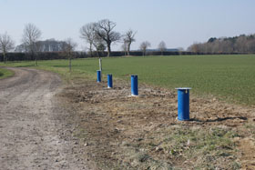 completed borehole at Salle
